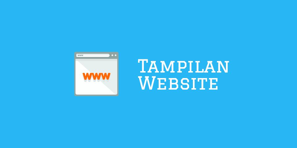 Bagaimana Cara Atur Tampilan Situs Web?